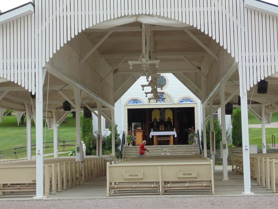 St. Anne's Shrine : The Shrine open with the covered seating area