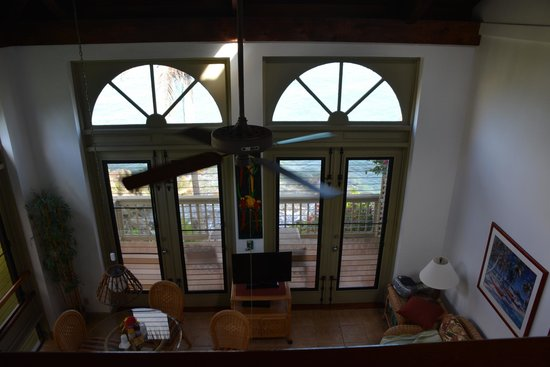 Gallows Point Resort: view of room from the bed room loft