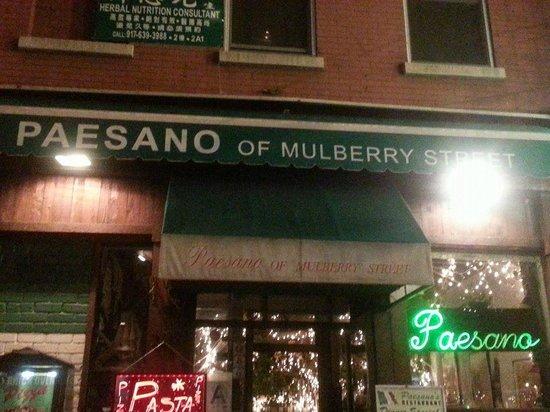Paesano of Mulberry Street: Exterior of Paesanos