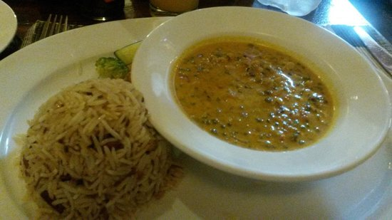 Jafferji House & Spa: Pilau rice and lentils