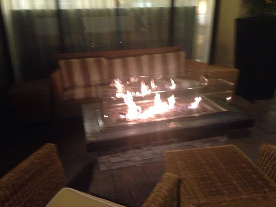 Sheraton Fisherman's Wharf Hotel : Love the fire pits.