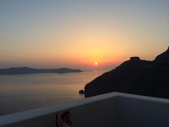 Agali Houses : der wunderschöne Sonnenuntergang