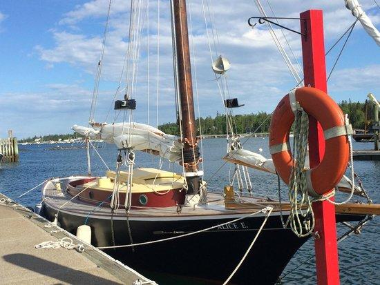 Sail Acadia: Boat at Dock