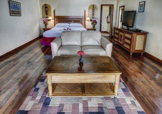 Almond Beach Resort: Bedroom and Living Room Combined