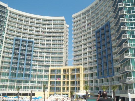 Avista Resort: view from the becah