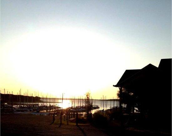 Cedar Mills Marina & Resort: Sunrise over the harbour