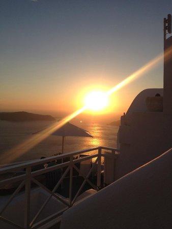 Artemis Villas: sunset