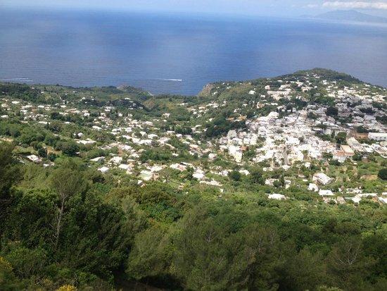 Mount Solaro: views of the island