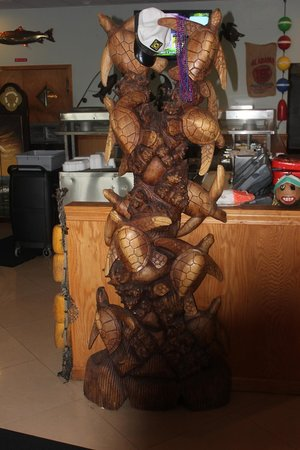 Fish River Grill #2 : Turtle sculpture adds to atmosphere.