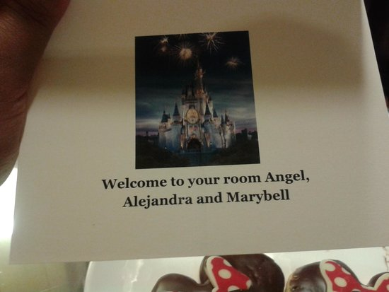 Disneyland Hotel : Welcome card