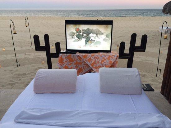 Las Ventanas al Paraiso, A Rosewood Resort: Beach cinema