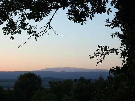 Une Sieste en Luberon : View towards Mont Ventoux from the Romantic Room
