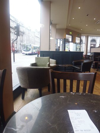 Caffe Nero: Looking out to Union Street