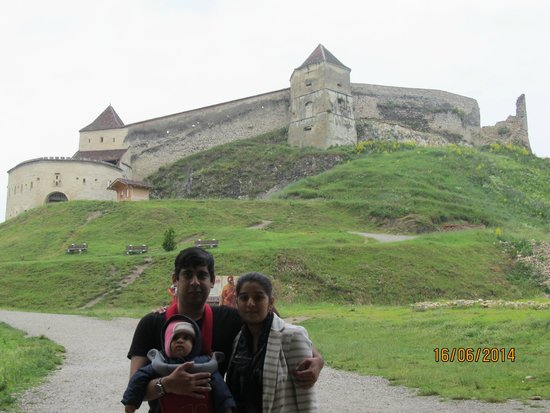 Rasnov Citadel: View from main Entrance