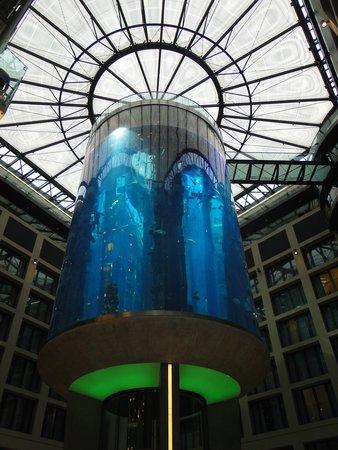 Radisson Blu Hotel, Berlin: Aguario no hotel no saguão