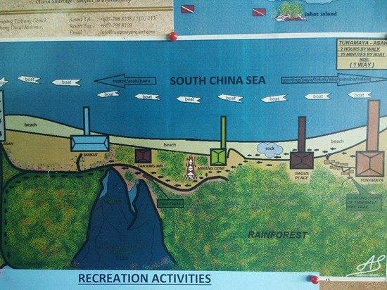 Tunamaya Beach & Spa Resort - Tioman Island: Map