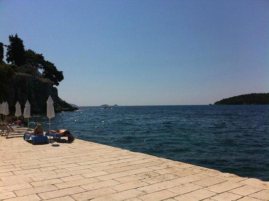 Hotel Excelsior Dubrovnik: Playa