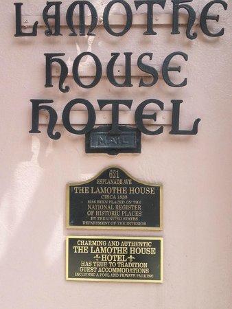 Lamothe House Hotel