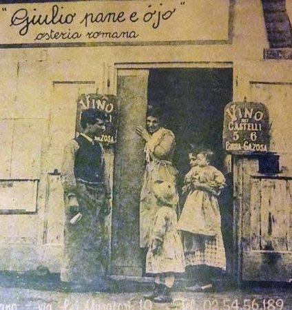 Giulio pane e ojo, ancient photograph
