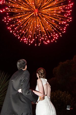 Antigua Villa Santa Monica: Fireworks display organized by hotel staff