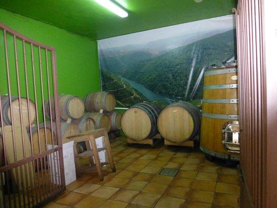 Restaurante O Castelo: Barricas en bodega