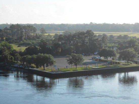Mike McCue Park and Boat Ramp: McCue Park as viewed from Beach Blvd Intercoastal Bridge.