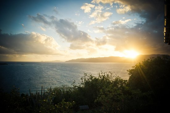 Sandy Ground Estates: View looking out to Tortola from the balcony at Diamond Villa SGE