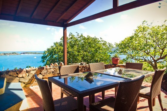 Sandy Ground Estates: Gorgeous terrace, Diamond View Villa