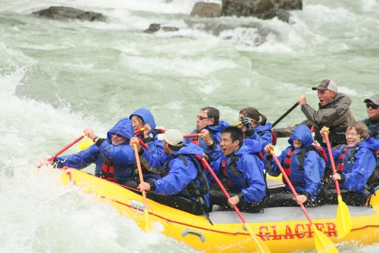 Glacier Raft Company : This was a shot as we entered the next to last white water portion of the ride