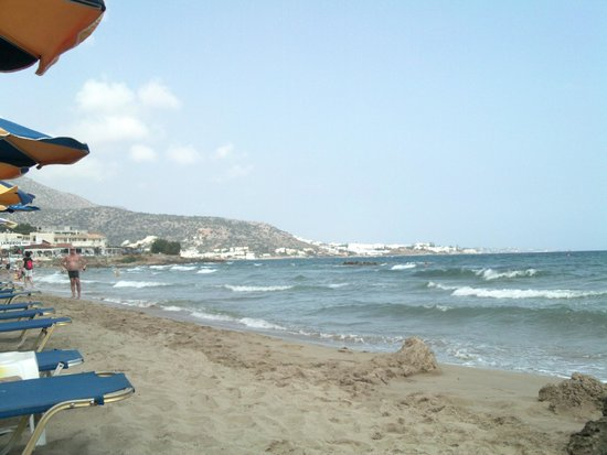 Aggelo Hotel Stalis : Beach1