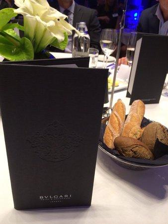 Bulgari Hotel, London: Dining tables