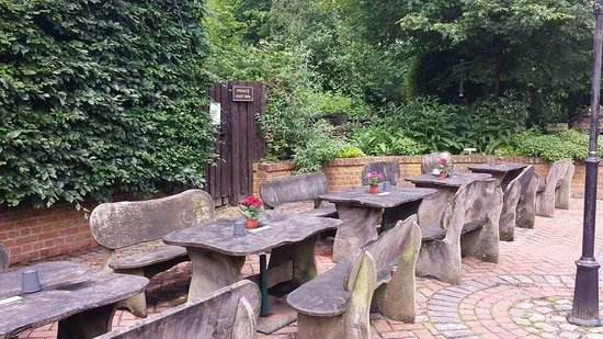 The Harvest Mouse Cafe Limited: outdoor seating at the cafe