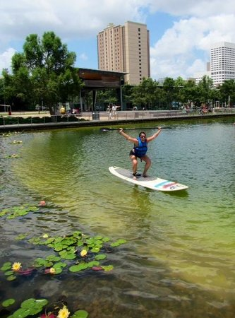 """Discovery Green: """"Look mom no hands"""""""