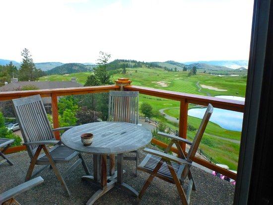 Predator Ridge Resort: Our patio on the 4th floor
