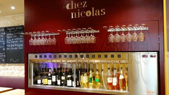 Chez Nicolas : Vinho em taça