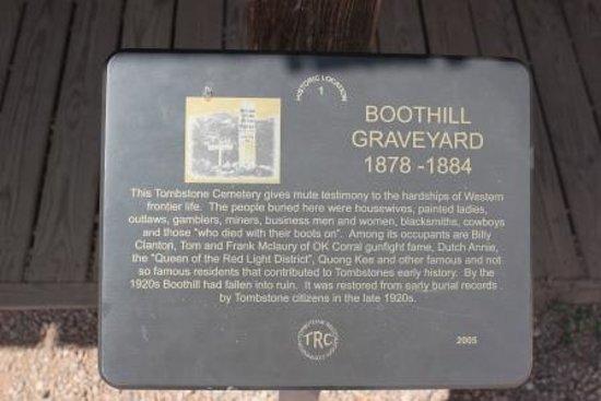 Boothilll Graveyard : Boot Hill Marker