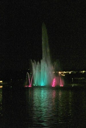 Heartland of America Park: fountain at night