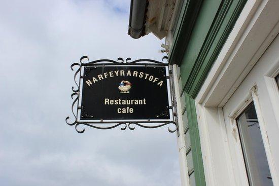 Narfeyrarstofa: Cafe sign