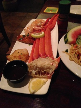 Pampas Brazilian Grille: The seafood portion of my meal.