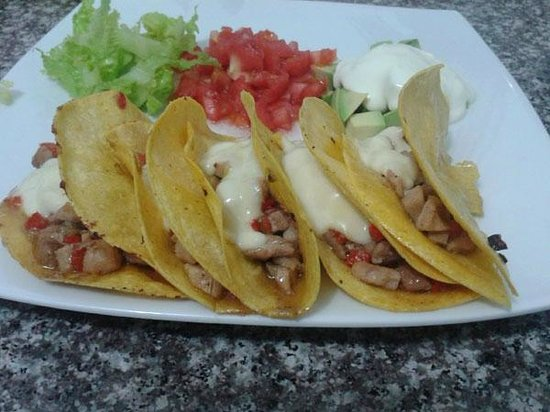 Quito Airport Suites: Our Chicken Tacos