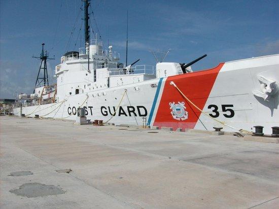 U.S. Coast Guard Cutter Ingham Maritime Museum: Waiting for the tour