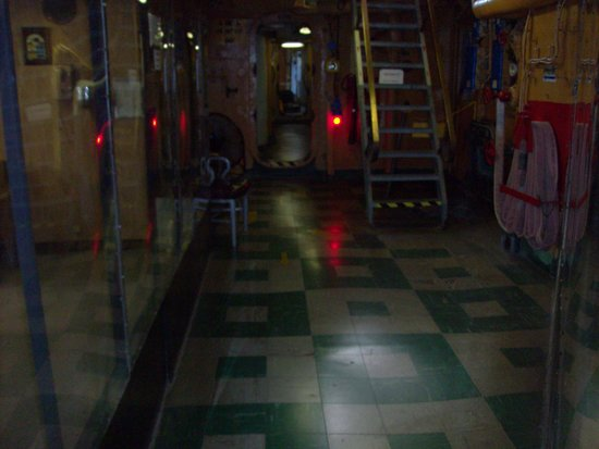 U.S. Coast Guard Cutter Ingham Maritime Museum: hallway