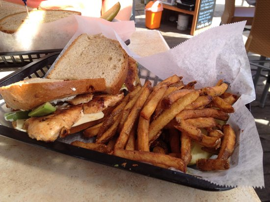 Yacht Basin Eatery: The Saucy Wench Sandwich