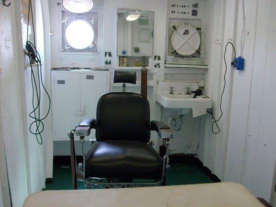 U.S. Coast Guard Cutter Ingham Maritime Museum: barber shop