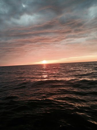 Michigan Maritime Museum: Beautiful sunset