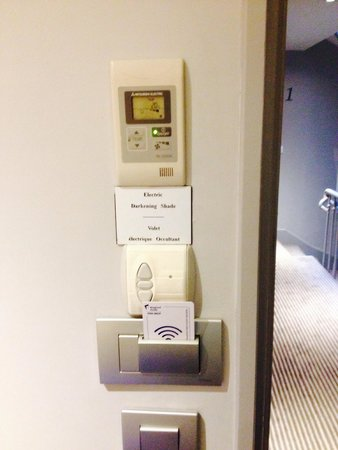 """Hotel Relais Bosquet Paris: Love the """"green thoughts"""" of hotel. When leaving the room, one takes the pass key & the power sh"""