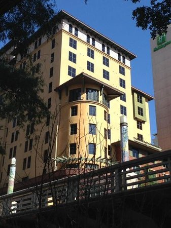 Hotel Valencia Riverwalk: This is what I call the turret balcony room