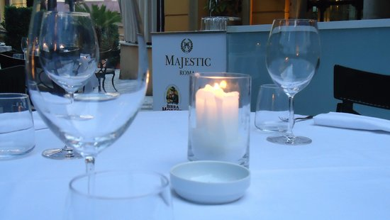 Hotel Majestic Roma : Terrace for dinner