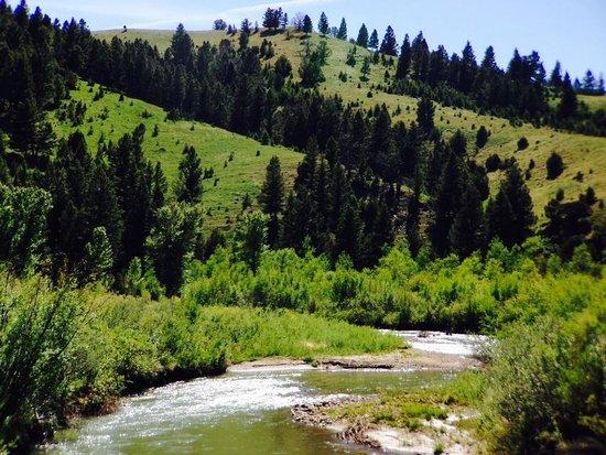 River at the Broken Arrow Lodge.