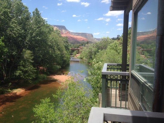 The Inn Above Oak Creek: View from room #2 balcony